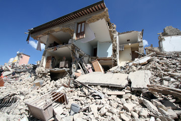 24/8/2016 - Amatrice - Rieti - Italy - The earthquake that destroyed the historic city of Amatrice