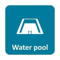 Water pool vector icon for web and mobile