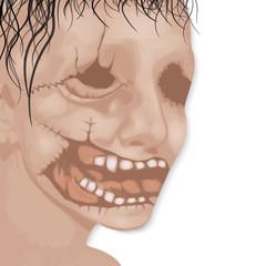 The dead man's face for Halloween vector