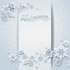 Snowy winter holiday card
