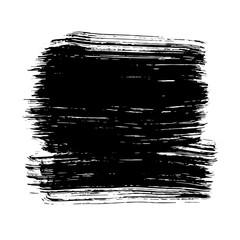 Black ink hand drawn paintbrush brush vector illustration. For decorative banner design.