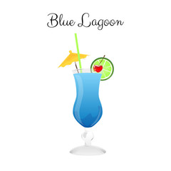 Blue Lagoon alcohol cocktail