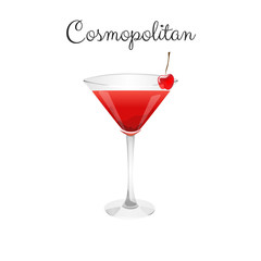 Cosmopolitan alcohol cocktail
