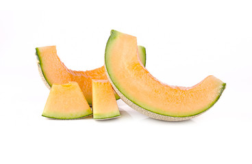 cantaloupe isolated on white background