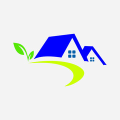 Vector abstract eco house logo