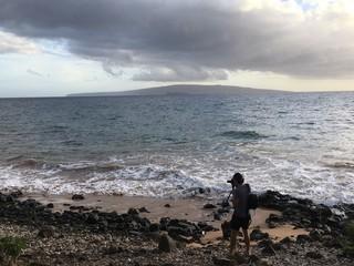 Beach Photographer at Sunset