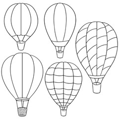 vector set of hot air balloon