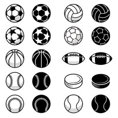 Vector Sport Balls and equipment Illustrations