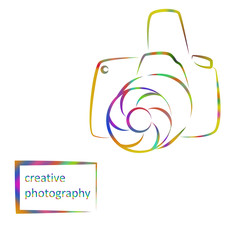 multicolored logo camera, creative pictures