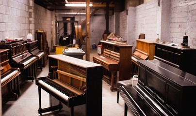 Pianos at workshop