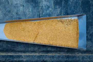 Gold Flakes from a Sluice Box