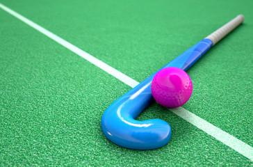 Hockey Stick And Ball