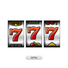 Lcky sevens jackpot, slot machine illustration