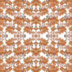Nature Collage Seamless Pattern