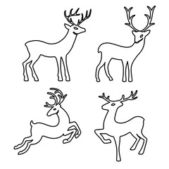 Outlined deer silhouettes