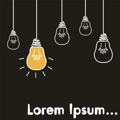 Light bulb illustration