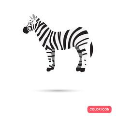 Zebra color flat icon