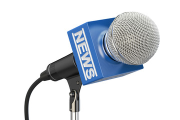 microphone news concept, 3D rendering