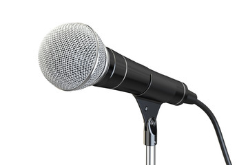 microphone on stand, 3D rendering