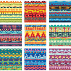 Color seamless tribal texture