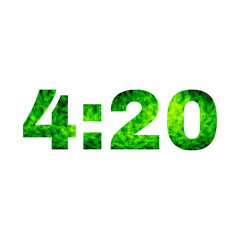 4:20 marijuana abstract design