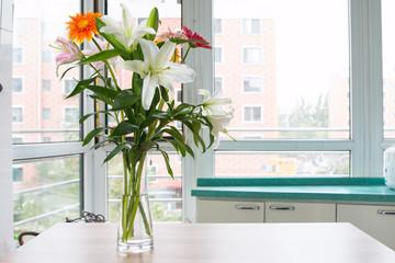 Poster Gerbera Lilies and gerbera in a vase