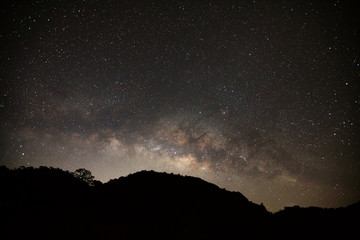 Milky Way Galaxy at Doi Luang Chiang Dao high mountain in Chiang