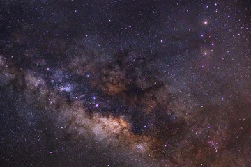 Close - up Milky way galaxy with stars and space dust in the uni