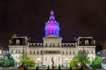 Council Building in Baltimore, Maryland During Night Time