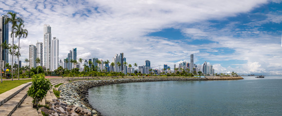 Panoramic view of Panama City Skyline - Panama City, Panama