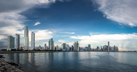 Panoramic view of Panama City Skyline - Panama City, Panama