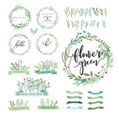 Floral decoration set
