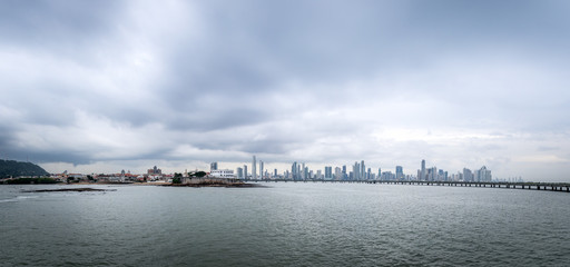 Panoramic view of old and new Panama City - Panama City, Panama