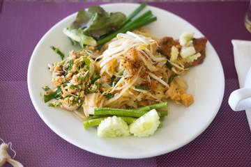 Many Thai food, buffet in luxury restaurant