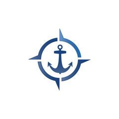 nautical with anchor navigator
