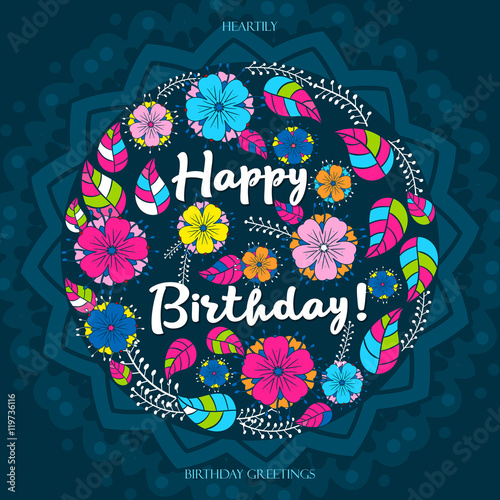 Image result for happy birthday mandala