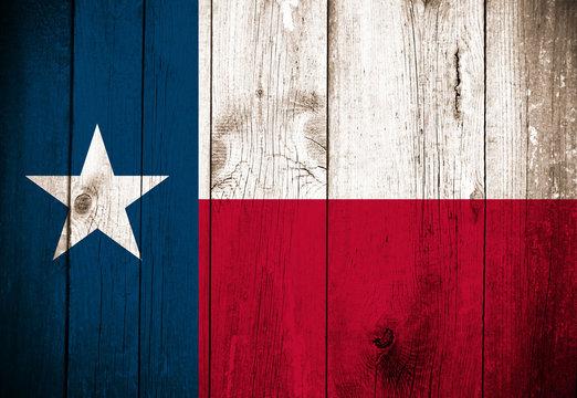 Wooden Flag of Texas, USA