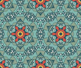 geometric mosaic vintage ethnic seamless pattern