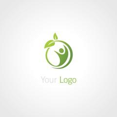 round green healthy logo