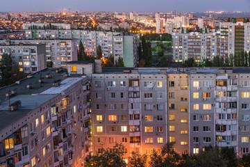 Evening in the city of Volgograd. The hero city.