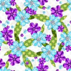 Floral seamless spring vintage pattern