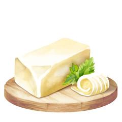 Butter on a platter