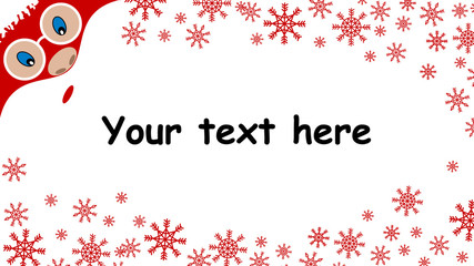 Christmas background with Santa Claus , advertising card
