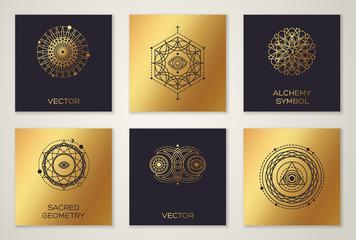 Set of Sacred Geometry Minimal Geometric Shapes
