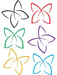 flat  butterflies