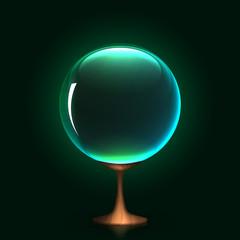 crystal ball, eps10 vector