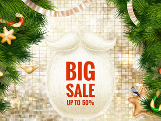Christmas sale poster. EPS 10