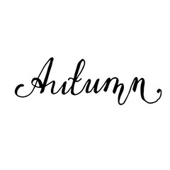 Autumn Hand drawn lettering card
