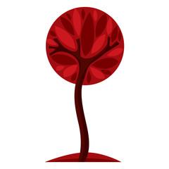 Art fairy illustration of tree, stylized eco symbol. Insight vec