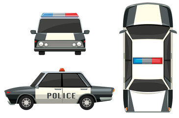 Police car from different views